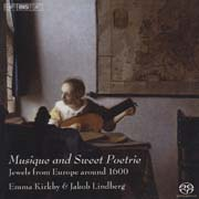 Musique and Sweet Poetrie - R. Johnson, Morley, Huwet, Dowland, Kapsberger, Schimmelpfennig, Schütz, M. Galilei, d'India, Ballard, Guédron, Boësset, Moulinié, Dlugoraj, Danyel
